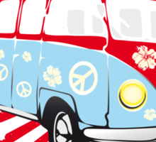VW T1 van retro illustration Sticker