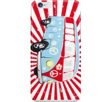 VW T1 van retro illustration iPhone Case/Skin