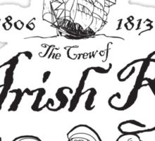 Crew of the Irish Rover Sticker