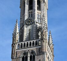 Belfry Tower in Bruges, Belgium by kirilart
