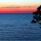 Lake Michgan Sunset Overlook by Kenneth Keifer