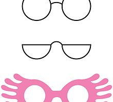 Glasses from Harry Potter- Pink by freebooksy