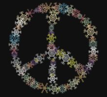"Peace Sign ""Christmas Peace Sign"" Snowflakes by HolidayT-Shirts"