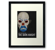 The Dark Knight - Minimalist Movie Poster Framed Print