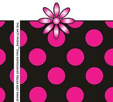 The Katy Phone / Pink Peppermint Polka Dot Parfait by Susan R. Wacker