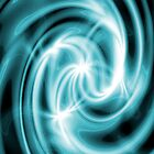 Abstract Blue Swirl by CTCaseDesigns