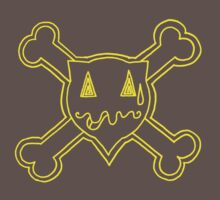 Percentum Skull & Xbones (yellow) by PercentumDesign