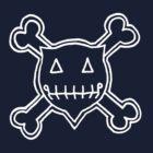 Percentum Skull & Xbones4 (white) by PercentumDesign