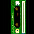 Green Classic Compact Cassette Tape by HighDesign