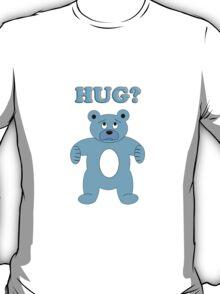Sad Blue Bear - Hug? T-Shirt