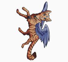 Winged Tabby Cat Sticker by cybercat