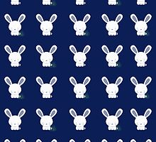 Bunnies In Grass Case - v. blue by Jenifer Jenkins