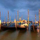 Venice Gondolas by reisefoto