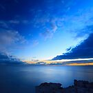 Beautiful blue sky over the sea at sunset  by nrasic