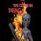We Come in Peace .. iphone case by LoneAngel