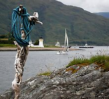 Yacht on loch linhie by pantherart
