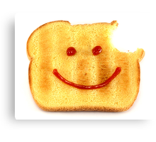 Bread with Happy Face Canvas Print