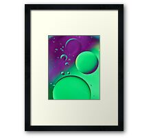 Bright Green & Purple Bubble Mix-iPhone Case Framed Print