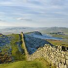 Hadrian's Wall crosses Bogle Hole by Joan Thirlaway