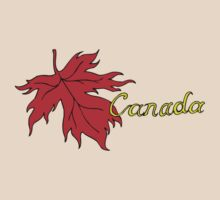 Canada Maple Leaf T-Shirt by HolidayT-Shirts