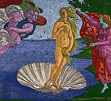 Birth of Venus Botticelli Culture Cloth Zinc Collection by CultureCloth