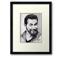 Richard Armitage, shining Framed Print