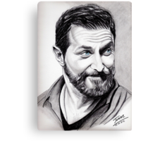 Richard Armitage, shining Canvas Print