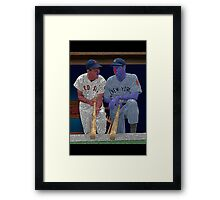 Dimaggio and Williams Yankees Red Sox Culture Cloth Zinc Collection Framed Print