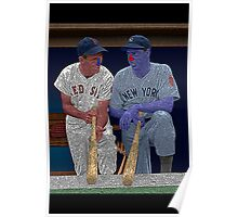 Dimaggio and Williams Yankees Red Sox Culture Cloth Zinc Collection Poster