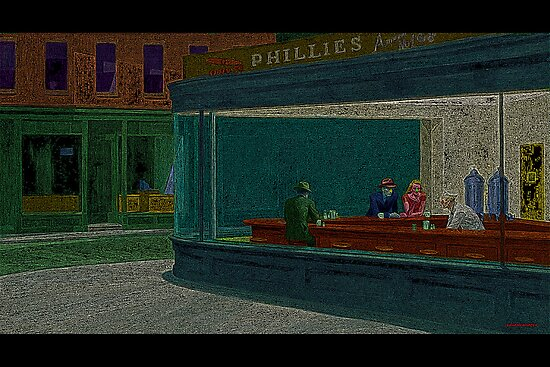 Nighthawks Edward Hopper Culture Cloth Zinc Collection by CultureCloth
