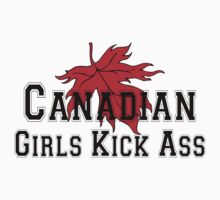 Canada Canadian Girls Kick Ass Women's T-Shirt by HolidayT-Shirts