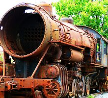 Rusted Steam Engine by ThinkPics