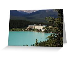 Fairmont Chateau Lake Louise Greeting Card