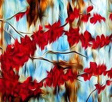 Abstract Tree Oil Painting #10 by Fred Seghetti