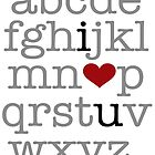 I Heart U. Alphabet by WickedCool