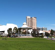 Part of C.B.D. Skyline, 'Elder Park' Adelaide S.Aust. by Rita Blom