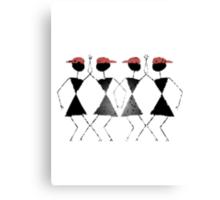 Warli -Dance moves Canvas Print