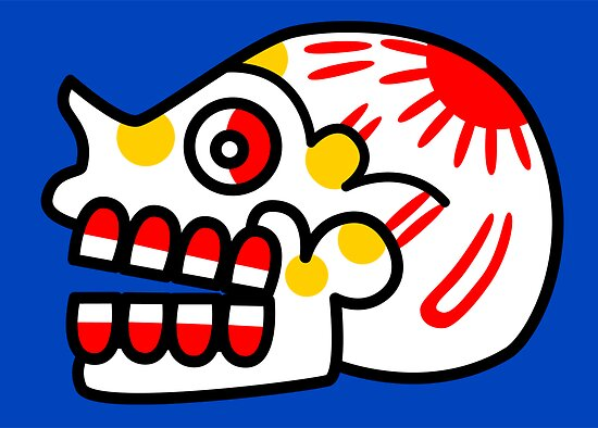 Aztec Skull 2 by Gwendal
