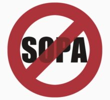 NO SOPA (smaller graphic) by portispolitics