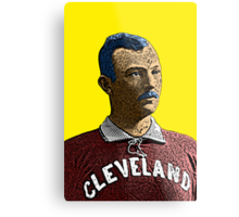 Old Time Cleveland Indians Player Culture Cloth Zinc Collection Metal Print
