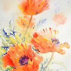 Red Poppies by Ruth S Harris