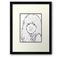 Carly Rae Jepsen Illustration - Black Framed Print