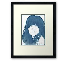 Carly Rae Jepsen Illustration - Blue Framed Print