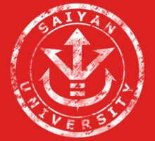 Saiyan University Crest - White vintage by karlangas