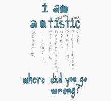 I'm Autistic. Where did you go wrong? by IanPeriwinkle