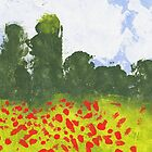 Remembrance Poppies - 1995 Watercolour Painting by digihill