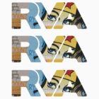 "RVA - flood wall ""Wonder Women stickers"" by Lee Lacy"