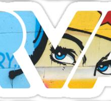 """RVA - flood wall """"Wonder Women stickers"""" Sticker"""