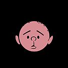 Karl Pilkington - Head - BLACK by aelari1