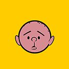 Karl Pilkington - Head - ORANGE by aelari1